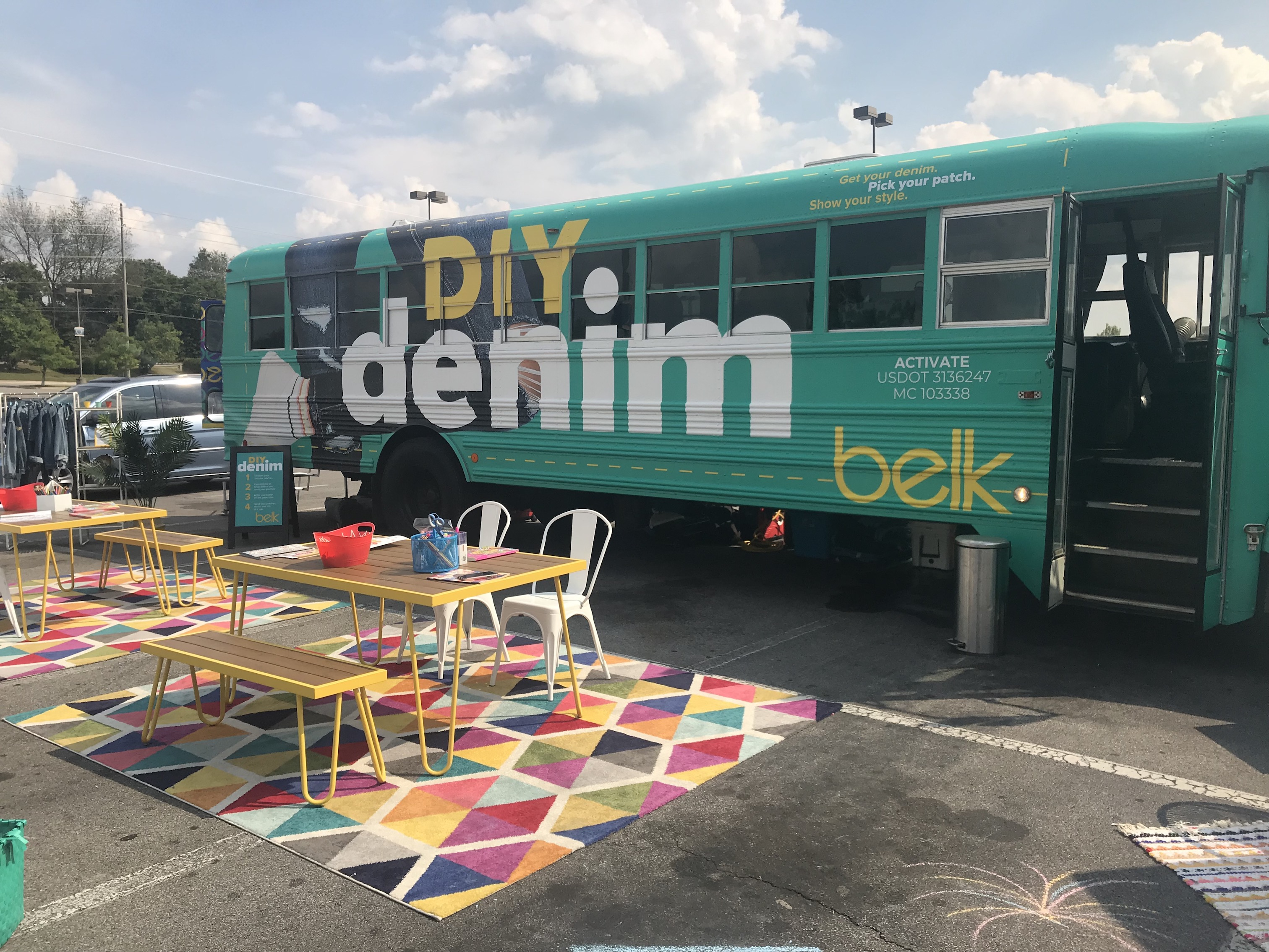 DIY Denim Bus Tour