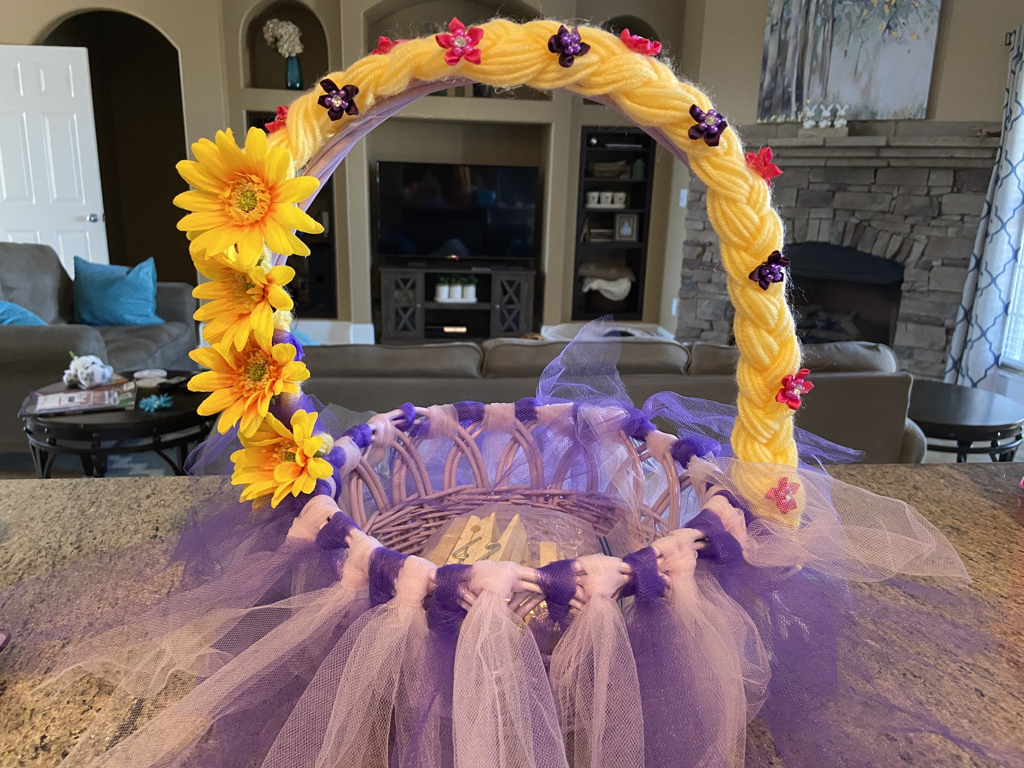 Rapunzel Themed Basket