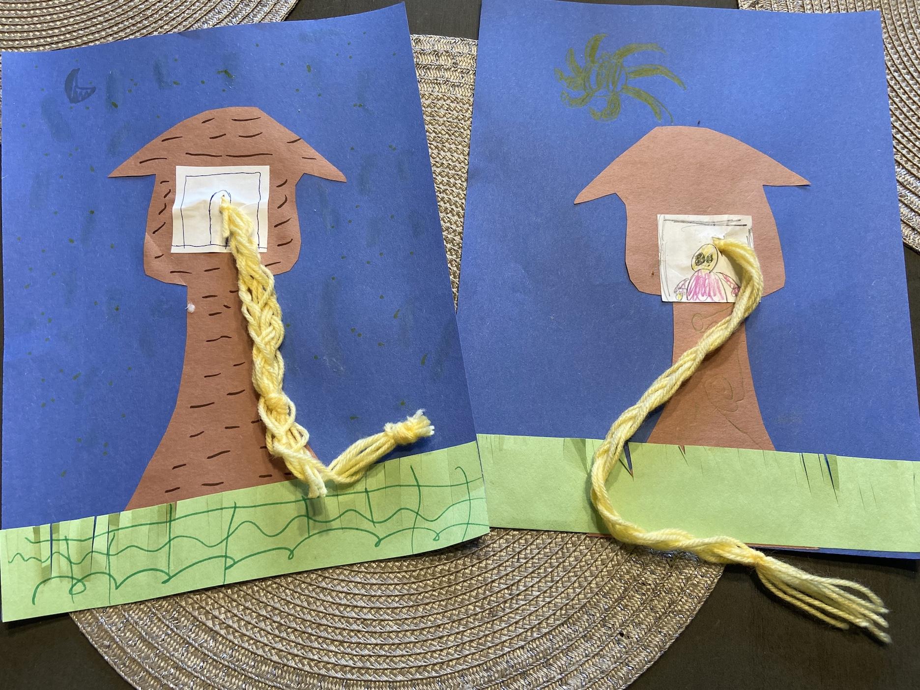 Rapunzel Braid Tower Craft