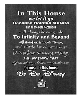 In this House Disney Sign