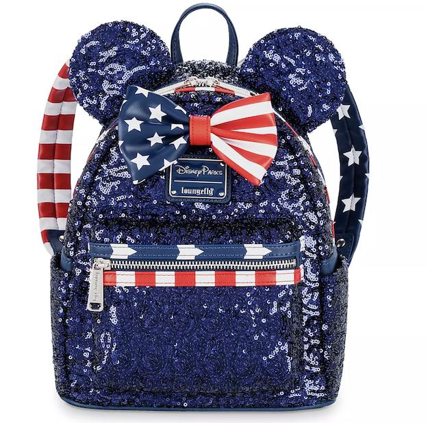 Loungefly Minnie Stars & Stripes Mini Backpack