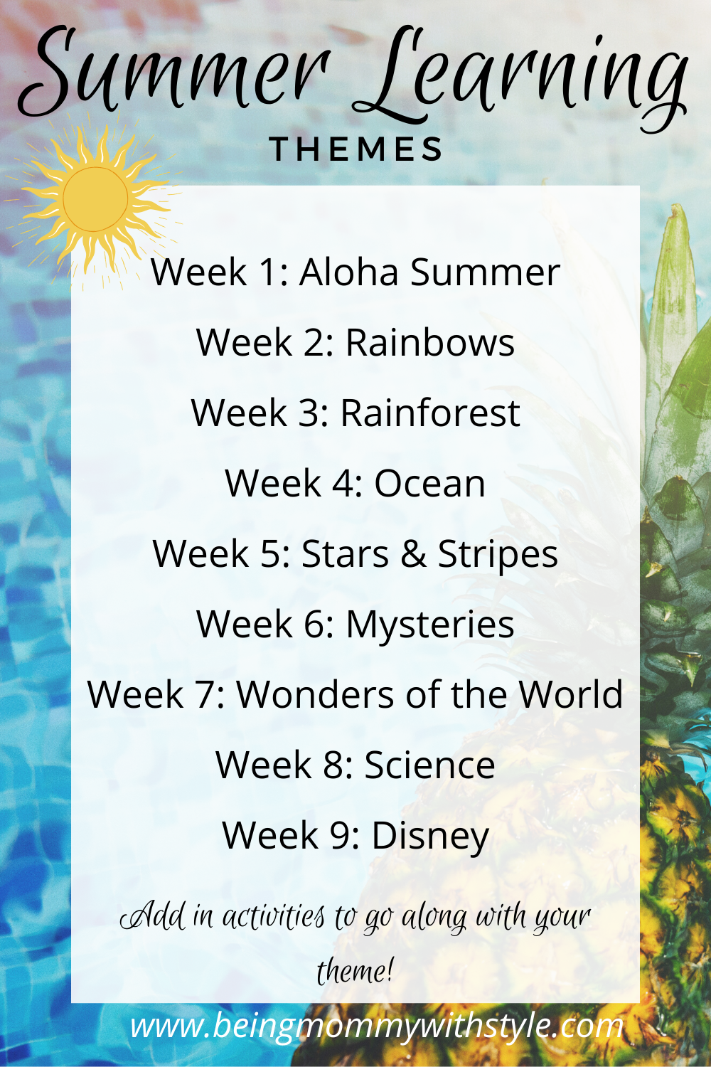 Summer Learning Themes