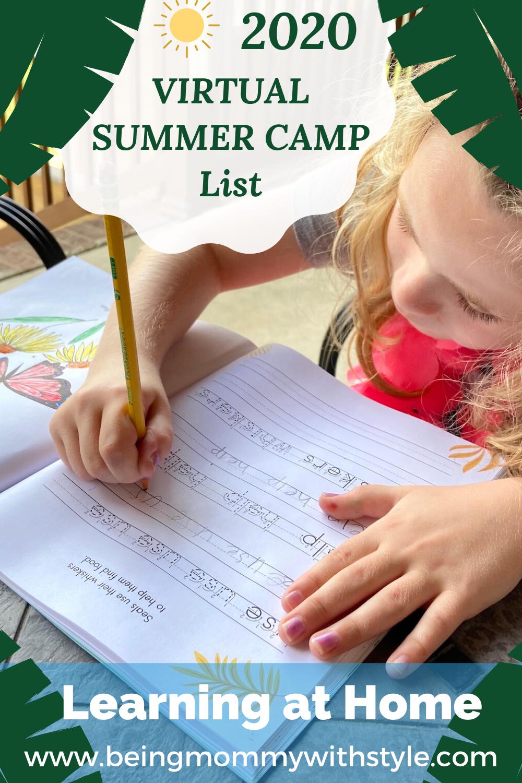 PIN THIS - VIRTUAL SUMMER CAMP List