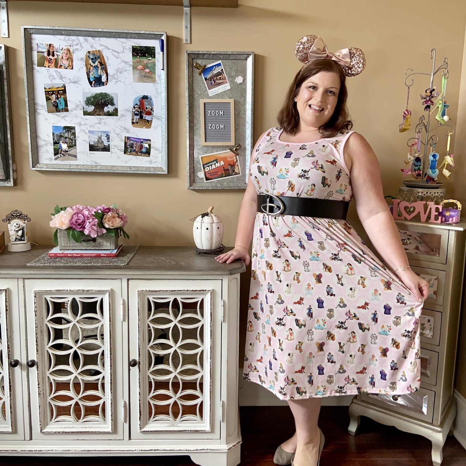 Disney Mom Outfit: Vintage Disney Dress