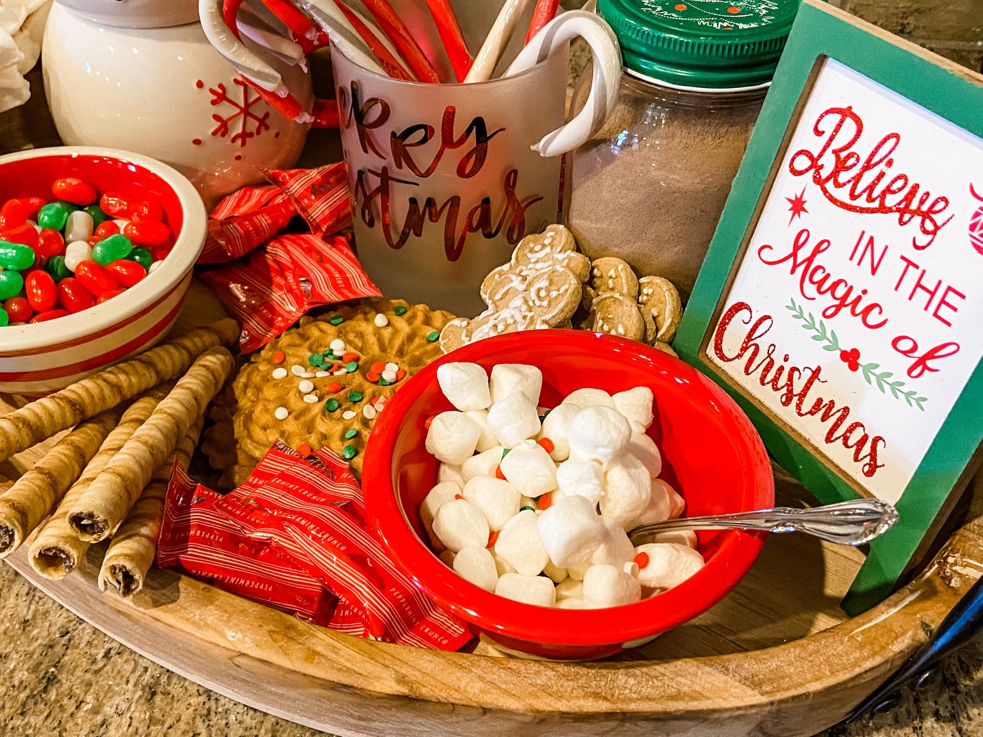 Hot Cocoa Tray items