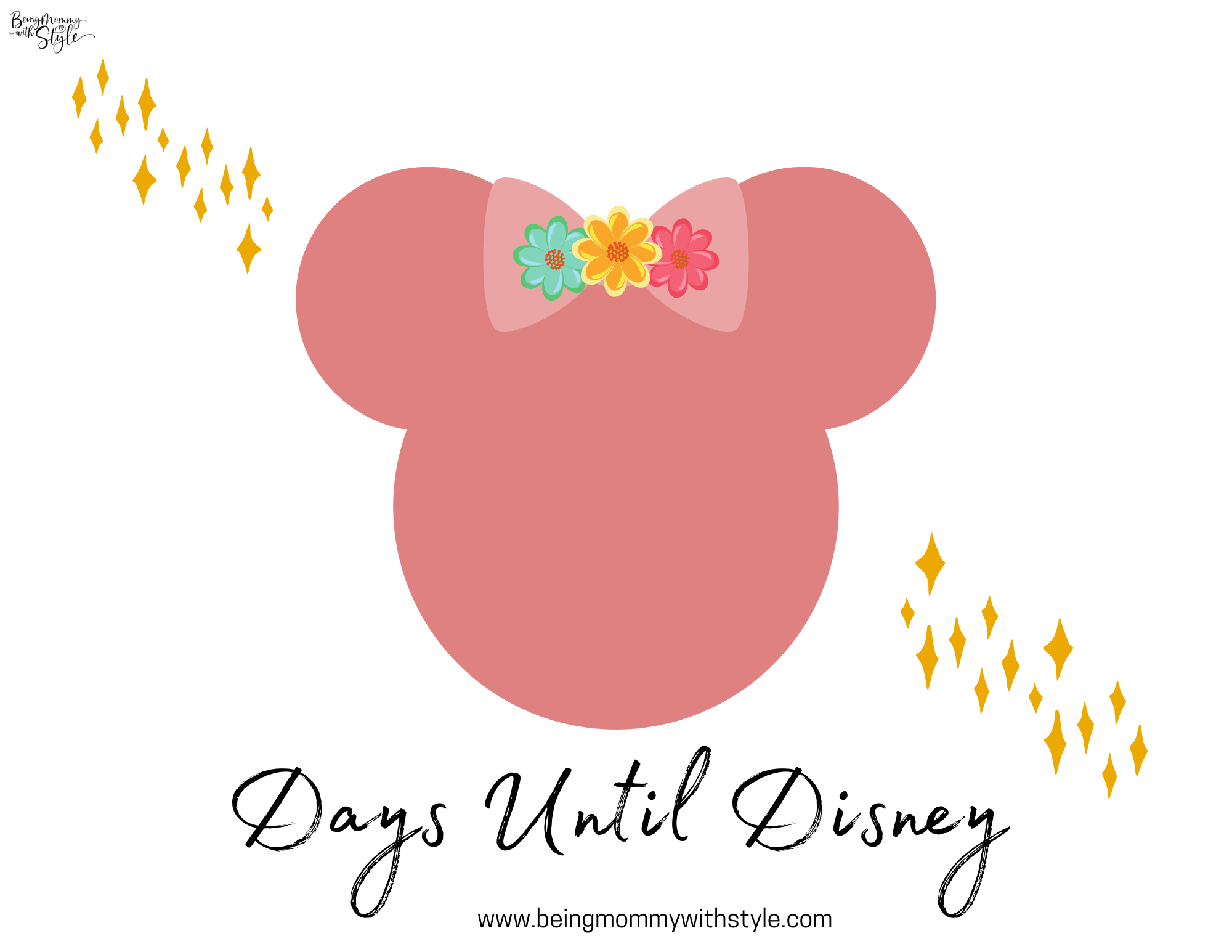 Days Until Disney Boho