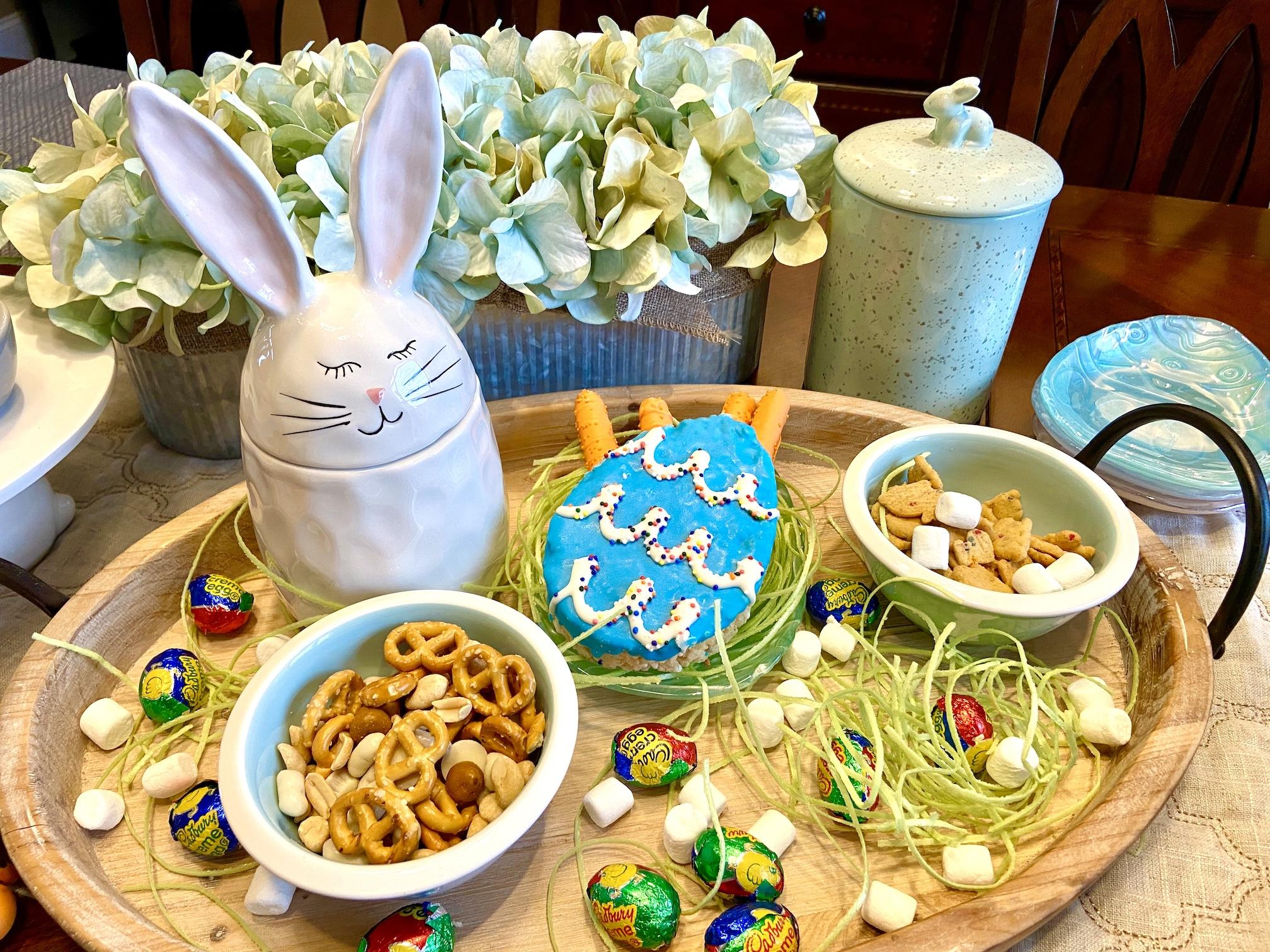 Bunny Dessert Themed Tray