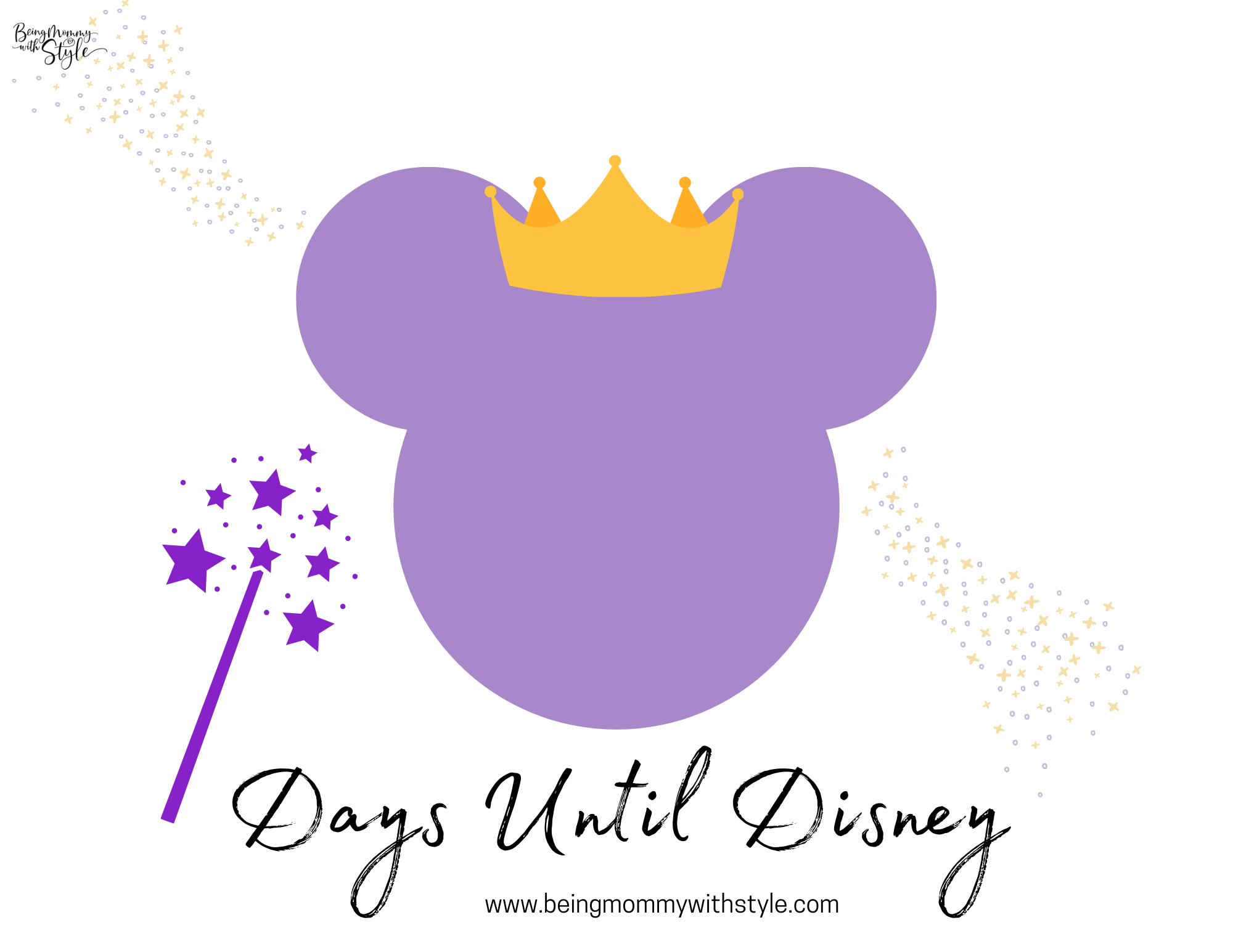 Princess Days Until Disney